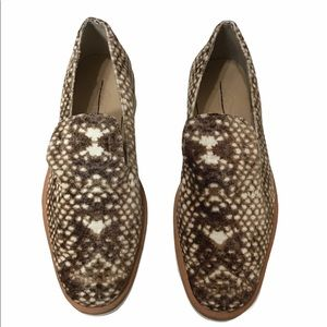 Free People Velour Snake Eyes Loafers Shoes Sz 38